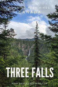 Three Falls Trail in Manning Park - Nepopekum Falls