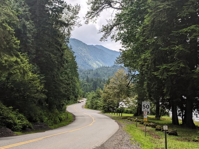 Views from the road along Cultus Lake