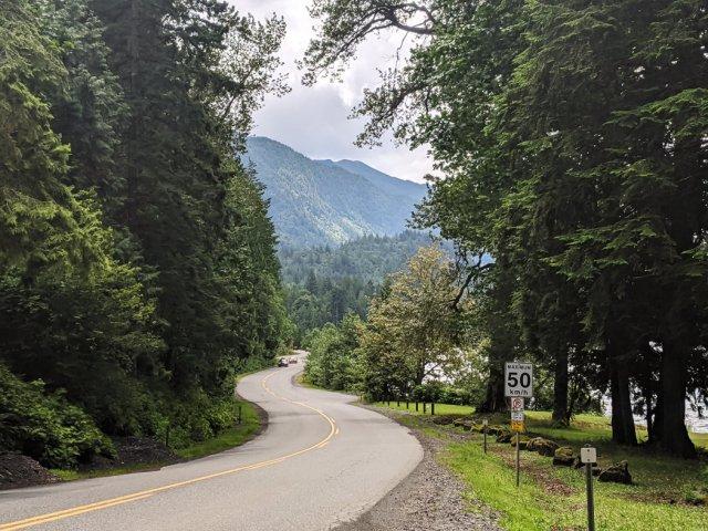 Views from the road along Cultus Lake