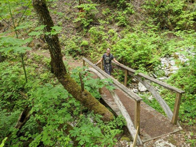 Gorgeous mini bridge at the start of the Tikwalus Heritage trail