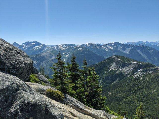 Heading down to the ridge