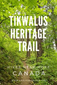 Tikwalus Heritage trail - Gorgeous hike near Hope, Canada