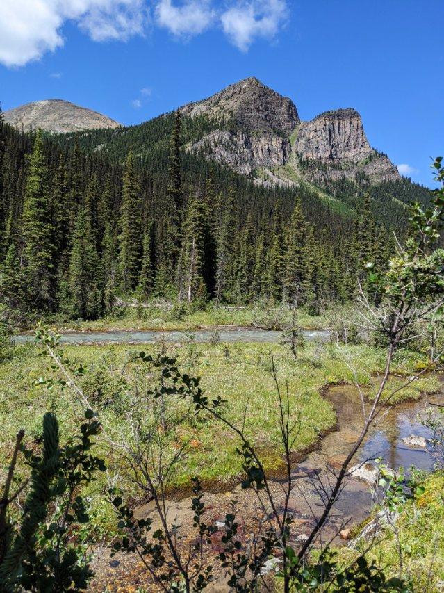Saddleback Mountain with Fairview Mountain behind it