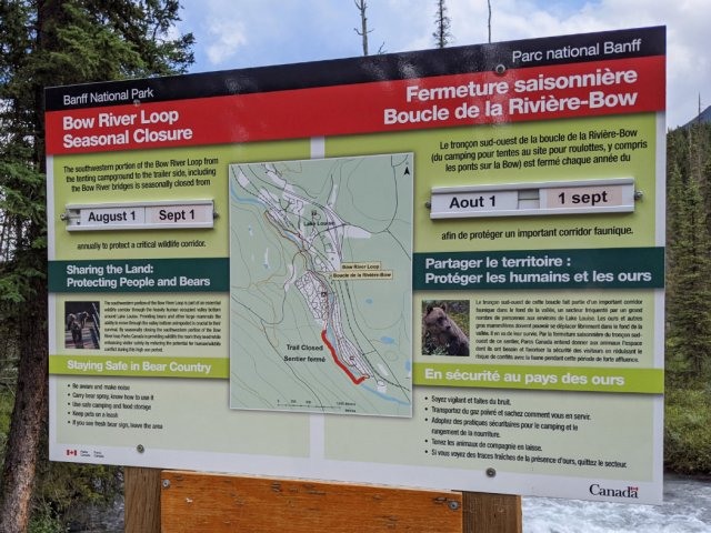 Closures due to Grizzly Bears - Bow River Loop