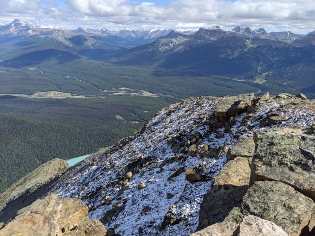 Snow on Fairview Mountain, Lake Louise and the Bow Valley