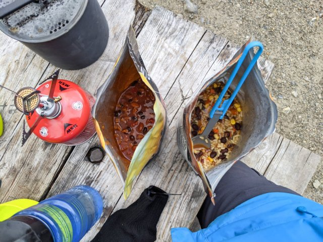 Dinner at the campsite