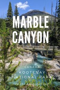Kootenay National Park's Marble Canyon