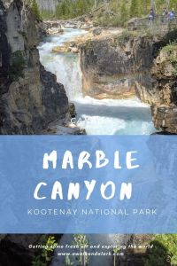 Marble Canyon - Gorgeous geology in Kootenay National Park