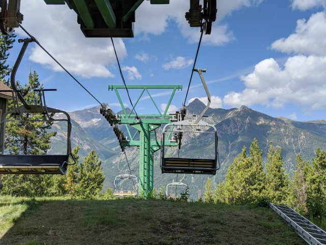 Top of the chair lift