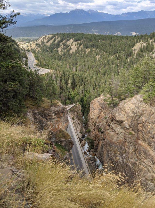 Views above Sinclair Canyon