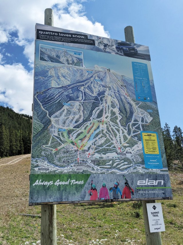 Map by the Champagne lift