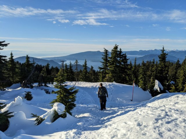 Views down to Howe Sound from Black Mountain