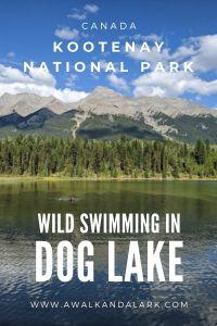 Go wild swimming in Dog Lake in Kootenay National Park, Canada