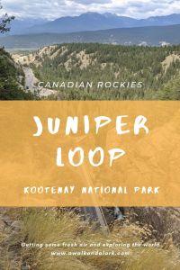 Juniper Loop trail in Kootenay National Park