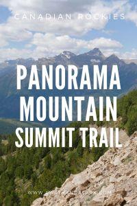 Panorama Mountain Summit trail - Canadian Rockies