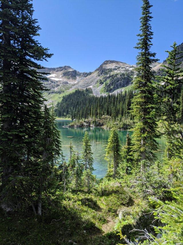 Jade Lake through the trees