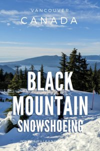 Great place for snowshoeing near Vancouver - Black Mountain