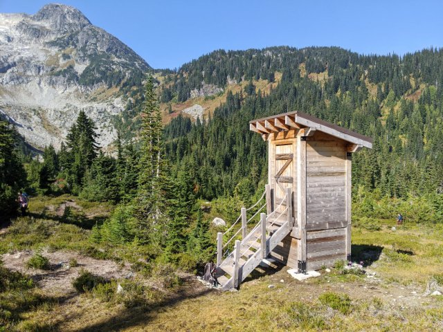 Best Loo with a view near Iceberg Lake