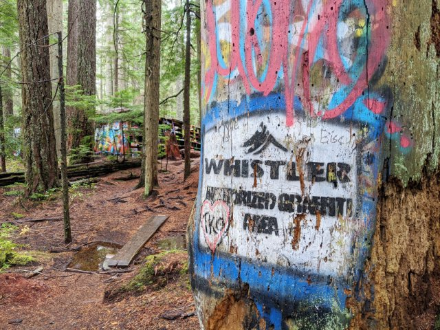 Whistler authorized graffiti area