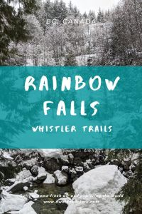 Rainbow Falls - Whistler Waterfalls you can visit in the snow, Canada