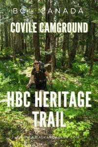 Covile Camp fun hike to pretty campsite - HBC Heritage trail