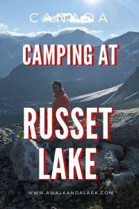 Camping at Russet Lake - best breakfast views