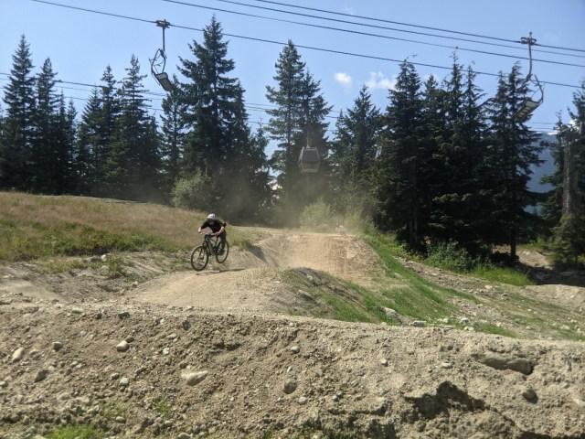 Dusty Whistler bike trails