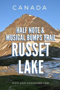 Half Note trail and Musical Bumps trail to Russet Lake