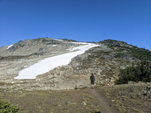 Hike up to Flute Summit