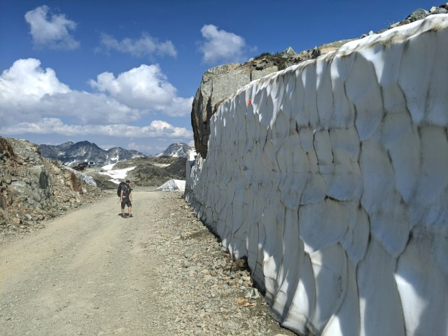 Ice walls on the Half Note trail