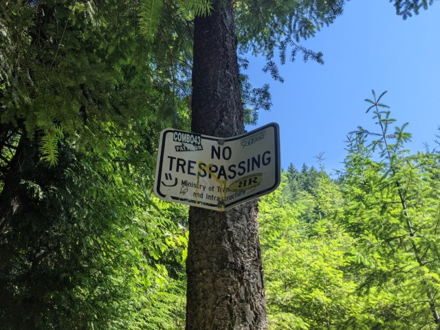 No trespassing to Ladner Trestle