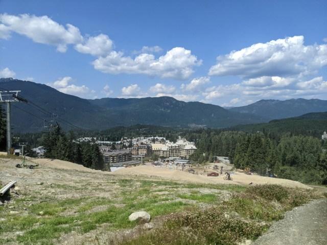 Views down to Whistler