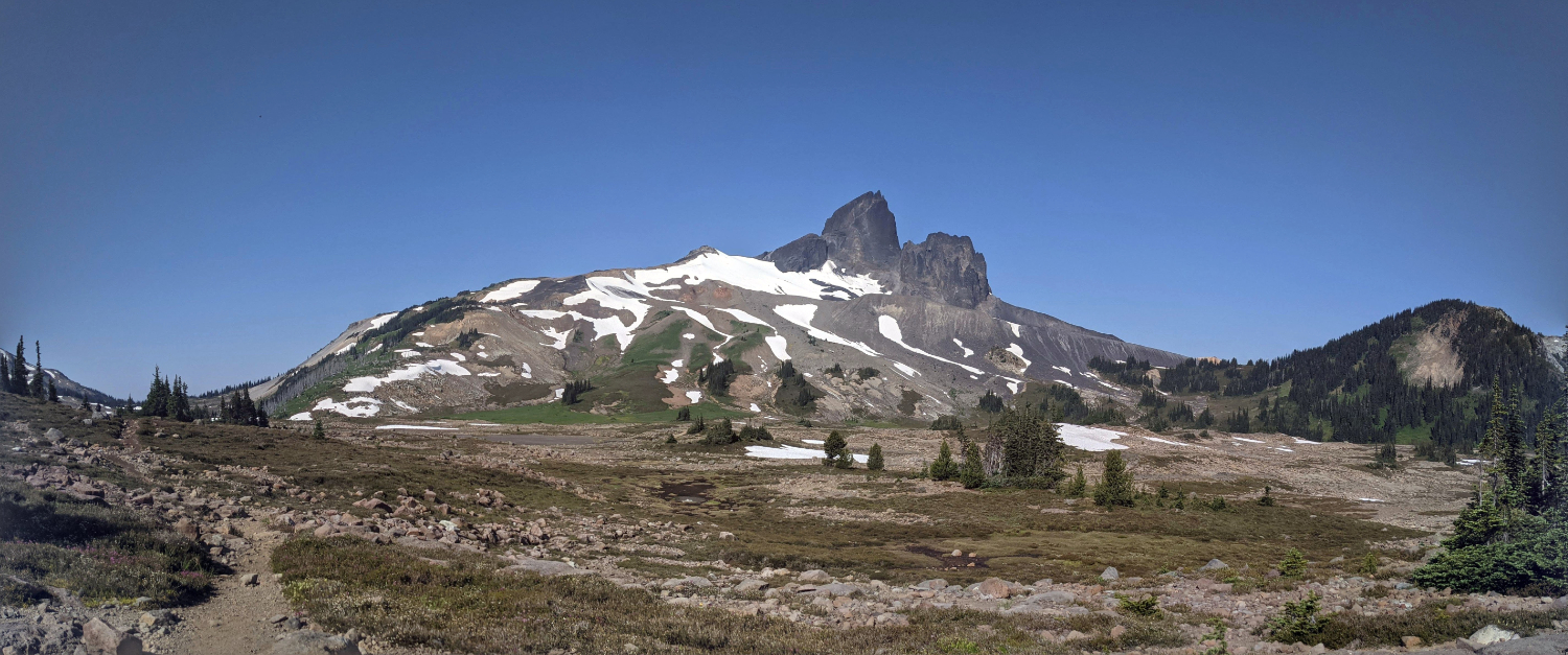 Black Tusk from the Helm Creek Campground trail