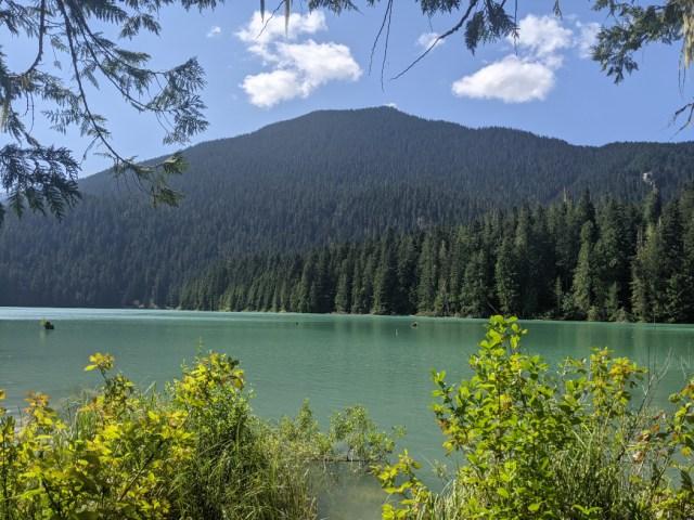 Cheakamus Lake - Helm Creek campground is behind that mountain