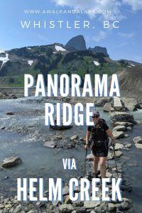 Panorama Ridge via Helm Creek - hike through volcanic area