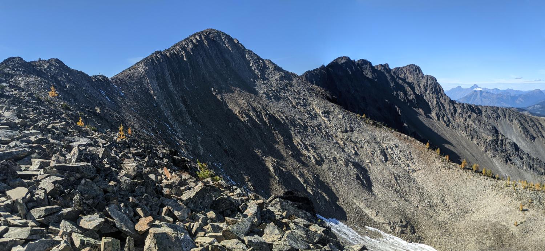 Frosty Mountain's rocky mountain ridge