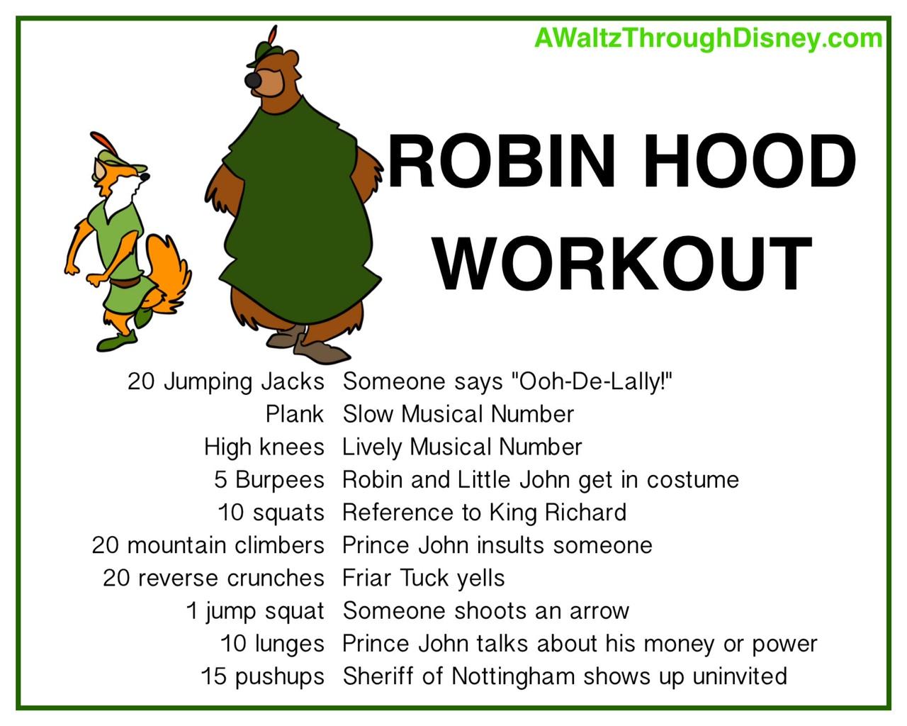 Disney Fit Life Workout 1 Robin Hood