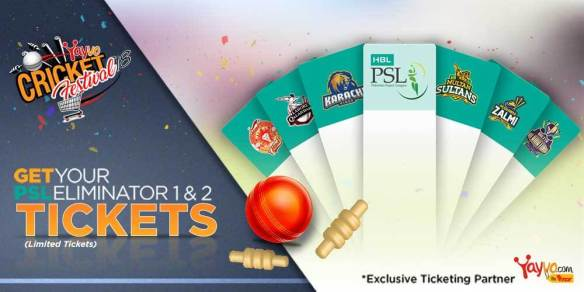 psl 2018 Eliminator 1&2 Tickets