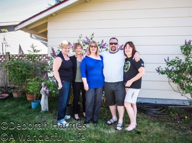Family time in Tacoma, Washington with Cindy Hatton, Karen Heilbronner, Deborah Harmes, Chris Fowler, & Diane Fowler
