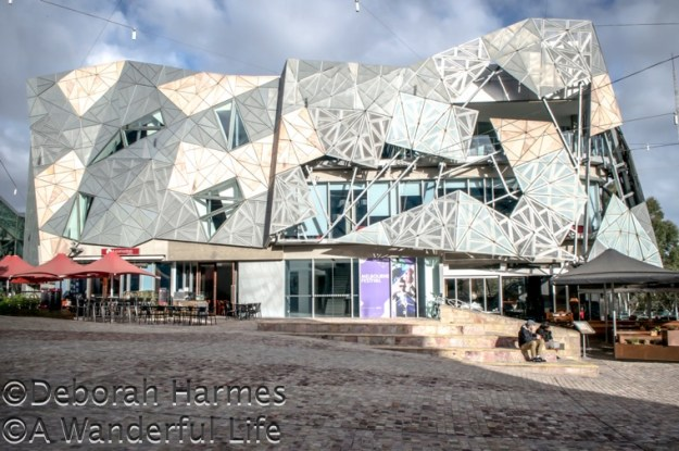 Another corner of Federation Square in the heart of Melbourne, Australia