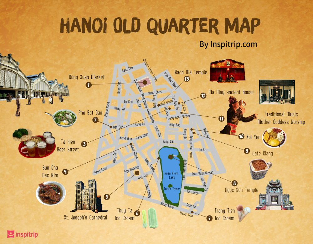Hanoi Old Quarter Map   A Wanderful Sole