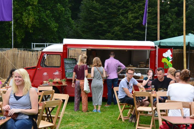 Food trucks at the wine festival in Amsterdamse Bos