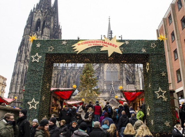 German Christmas Market Entrance