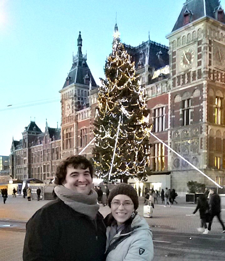 Sean and Jessica in front of Central Station