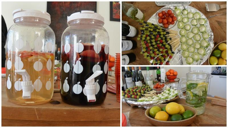 Sangria and food