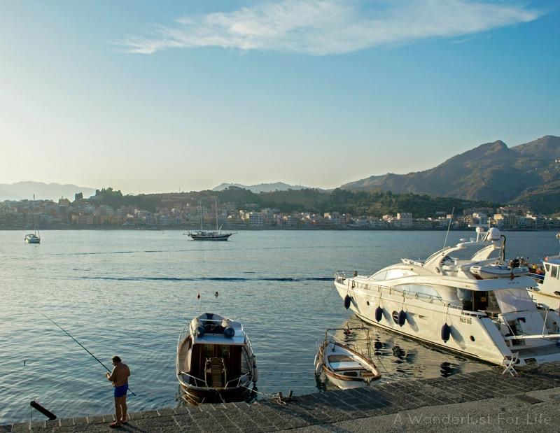 Giardini-Naxos Boats in the Sea