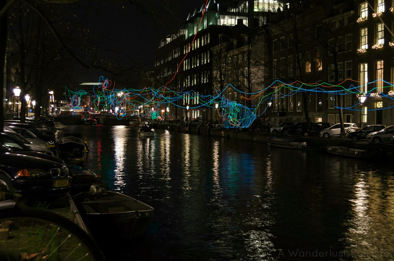 Amsterdam Light Festival Paths Crossing