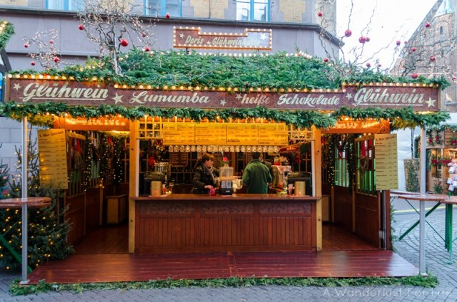 Gluhwein stand in Hannover, Germany