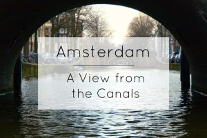 View from the Canals in Amsterdam Title