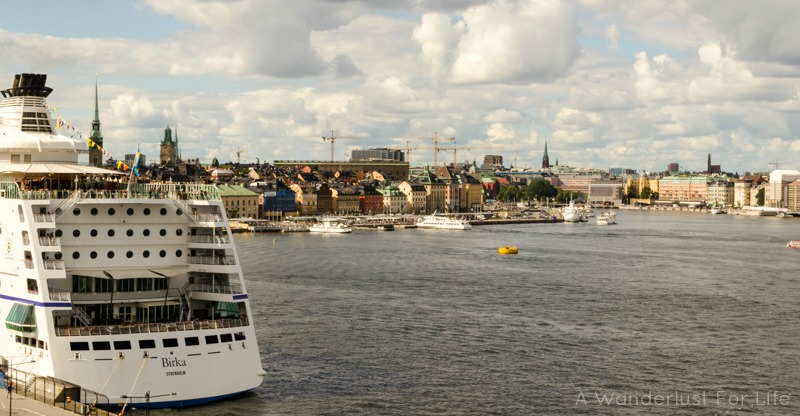 Love this city view of Stockholm